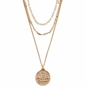 Coin Pendant Necklace Set Forever 21